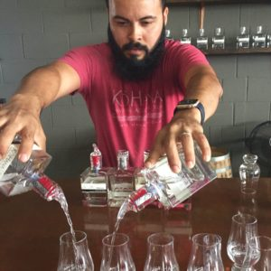 Ko Hana rum tasting room pour - photo Laura Sutherland