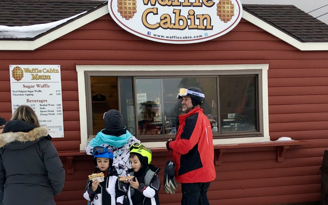 Okemo Mountain Resort's slopeside Waffle Cabin